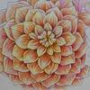 無印良品色鉛筆でダリアを塗ってみました・花日和花だよりより