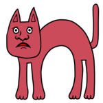 怯える猫ちゃん のイラスト
