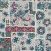 着物生地(161)紋錦紗色紙に花模様着物生地