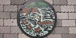 愛媛県大洲市のマンホール