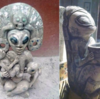 メキシコの洞窟で宇宙人とUFOに見えるストーンの彫刻が発見された!