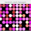均等にrandomに色々な形を敷き詰めてみる