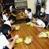 応援バナナ:柳井南小のサザンセト・ロングライド応援企画