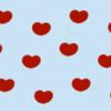ハートの壁紙(ブルー×レッド)