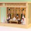 小型サイズのガラス箱宮の神棚でも神具一式セットは入ります