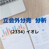 【立会外分売分析】2334 イオレ