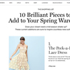 10 Brilliant pieces to try this spring!!