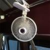扇風機とシガーコンセント取付