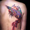 鳳凰の刺青・タトゥーデザイン