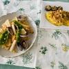 """【ベターホーム】""""野菜の会""""〝春野菜とあさりのパエリア〟他2品習ってきた。"""