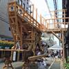 大船鉾の鉾建てを見る夏休み