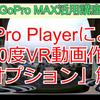 GoPro Playerでの360度VR動画エクスポート