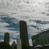 高層雲が広がる