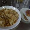 幸運な病のレシピ( 1587 )朝:鳥カツ閉じ、鮭、味噌汁(もずく)