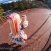 吊り橋でちょろっとドール撮影(*^^*) 自作ドールスタンドが意外に使えてる🤔