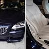 BMW6シリーズの運転席本革シートの擦れと切れ補修