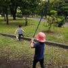 子供たちと虫取り2020年夏 ホウネンエビ 葛西臨海公園でのカニ釣り(2歳、5歳)