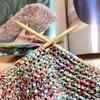 「ヨーロッパの手編み」2018/春夏より、リーフィーのバッグ編み始めました。