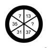 【算数パズル】円の中に並ぶ7,13,?,37,31,35のハテナにはどんな数字が入る???