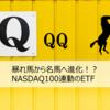 【QQQ】暴れ馬から名馬へ進化!?NASDAQ100連動のETF