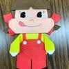 今日の折紙教室 ペコちゃんと、花びら!