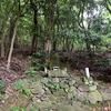 貯水池のそばに祀られる庚申塔 福岡県北九州市門司区大字大里