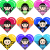 Girls²「チュワパネ」イラストハート型
