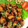 鶏レバーと安納芋のバルサミコ煮