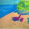 夏の浜辺(秋だけど)