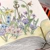 本から飛び出る草花のぬりえ「森が奏でるラプソディー」