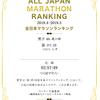 2019年の全日本マラソンランキング