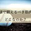 野球で鍛えるべき筋肉はどこなのか?