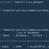 Rails postgresのコマンド、設定等
