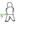 スイングを、よりシンプルにするとっておきの方法、左腰の出っ張り?