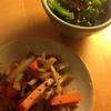 ✴︎銀鱈と広東白菜と平茸の煮付け(覚書き)、大豆煮汁入りとろろ味噌汁、金平、青菜の胡麻汚し、おろし長芋