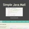 Simple Java Mailの主な機能について