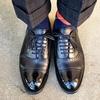 アーガイルソックスはピカピカ靴磨きとクラシックなコーデで