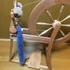 ホームスパン再開!!次回作のマフラーの糸を紡いでいます!!