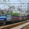 6月18日撮影 東海道線 平塚~大磯間 貨物列車を撮影 ゼロロク27号機とEF200