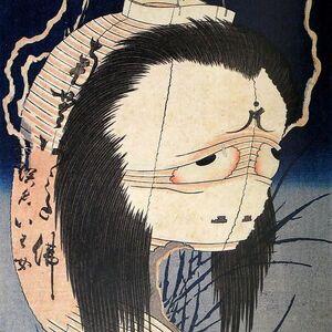 """""""三大怪談""""の一つがモデル 葛飾北斎『百物語 お岩さん』"""
