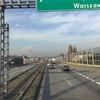 ワルシャ行きフライトキャンセルの為バス移動