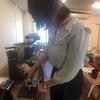 今日もyuricafeのコーヒー練習。