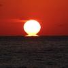 稲佐の浜で完全に捉えただるま夕日