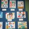 2年生:紙版画 完成・掲示