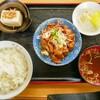 アタミ食堂@塩川 モツ定食