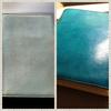 ターコイズ色に♪ほぼ日手帳カバー「ロビンエッグ」を染めてみた