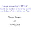 RISC-V仕様のFormal表現いろいろ