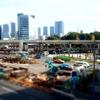 ミニチュア風写真『汐留の風景とゆりかもめ』
