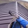 仕事が早く終わったので屋根のペンキ塗り