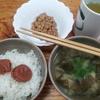 味噌汁と納豆